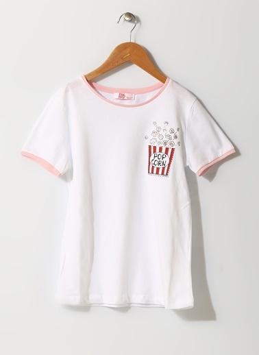 Pink&Orange Tişört Beyaz